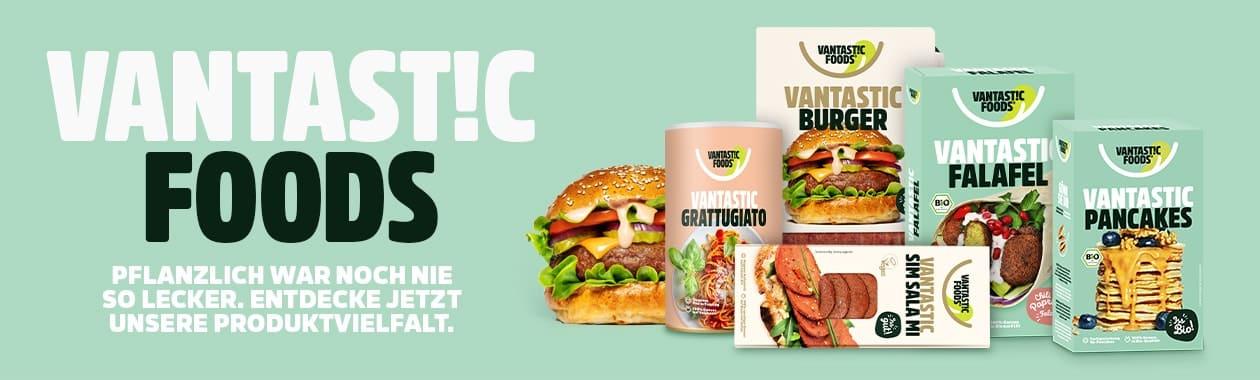 Banner Vantastic Foods Markenshop