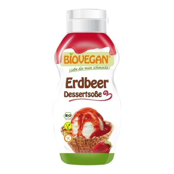 Biovegan DESSERTSOSSE Erdbeer, BIO, 240g