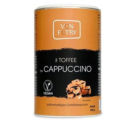 VGN FCTRY INSTANT CAPPUCCINO Toffee, 280g