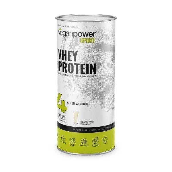 veganpower VHEY PROTEIN mit Vanillegeschmack, 750g