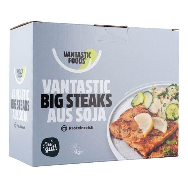 Vantastic foods SOJA BIG STEAKS Fleischersatz Sojafleisch, 500g