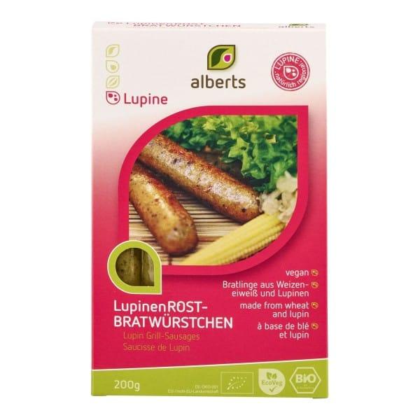 Alberts LUPINEN-ROSTBRATWÜRSTCHEN, BIO, 200g
