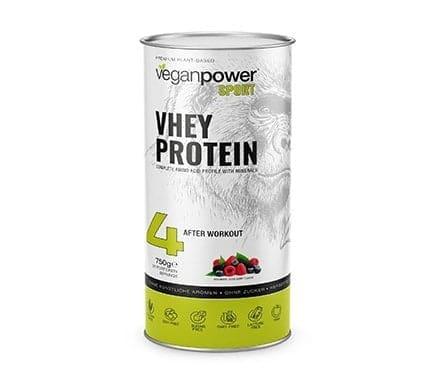 veganpower VHEY PROTEIN mit Beerengeschmack, 750g