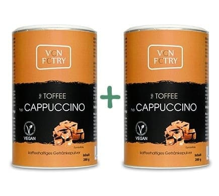 VGN FCTRY INSTANT CAPPUCCINO Toffee Sparset, 2x280g