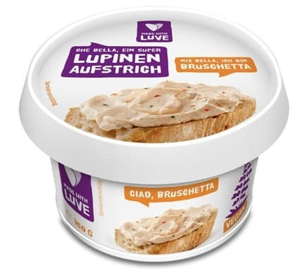 Made with Luve LUPINEN AUFSTRICH Bruschetta, 150g