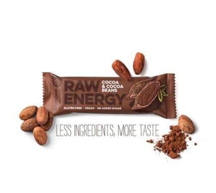 bombus RAW ENERGY Kakao & Kakaobohnen Riegel, 50g