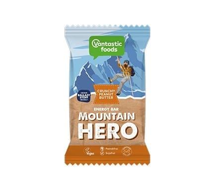 Vantastic foods MOUNTAIN HERO Crunchy-Peanut-Butter Energieriegel, 65g