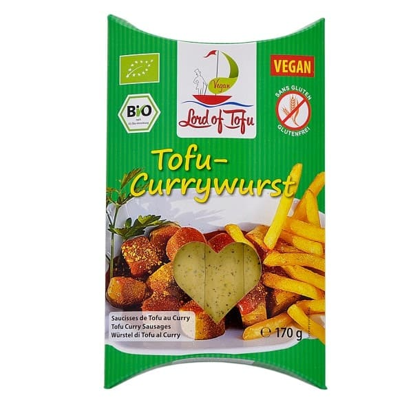 Lord of Tofu POSEIDONS CURRY WÜRSTCHEN, BIO, 170g