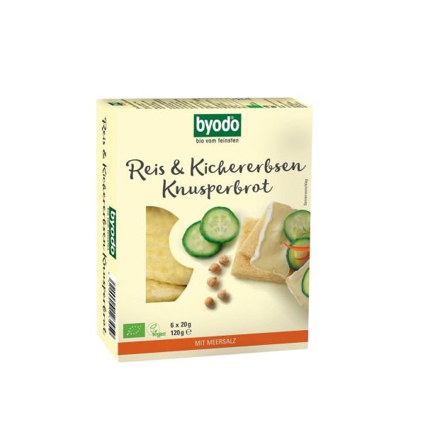 Byodo REIS & KICHERERBSEN KNUSPERBROT, BIO, 120g