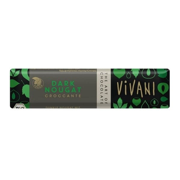 Vivani DARK NOUGAT CROCCANTE Schokoladenriegel, BIO, 35g