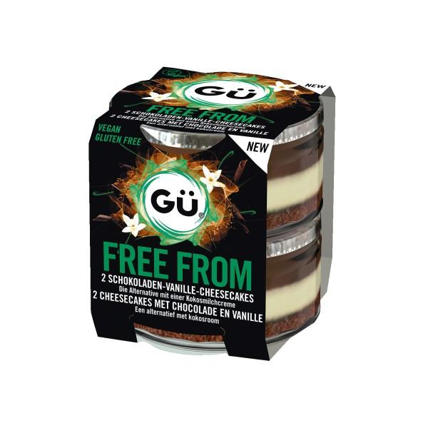 Gü FREE FROM Schokoladen Vanille Cheesecake, 2x82g