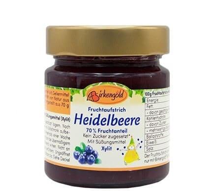 Birkengold FRUCHTAUFSTRICH Heidelbeere, 200g