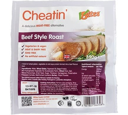 VBites CHEATIN Beef Style Roast, 380g