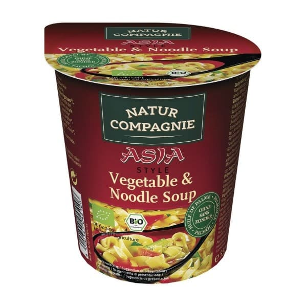 Natur Compagnie ASIA Gemüse- und Nudelsuppe, BIO, 255ml