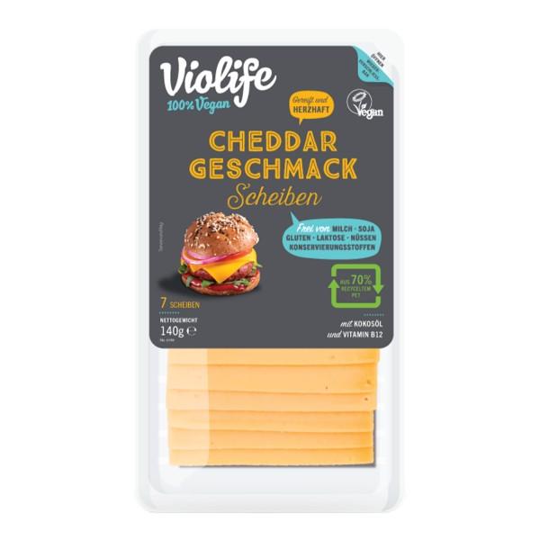 Violife SCHEIBEN mit Cheddar Geschmack, 140g
