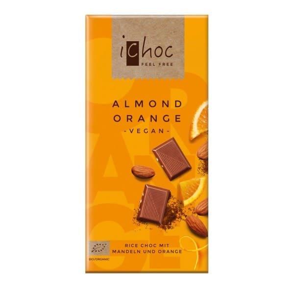 iChoc ALMOND ORANGE mit Mandeln und Orange, BIO, 80g
