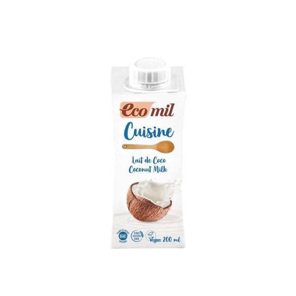 EcoMil CUISINE Kokoscreme, BIO, 200ml
