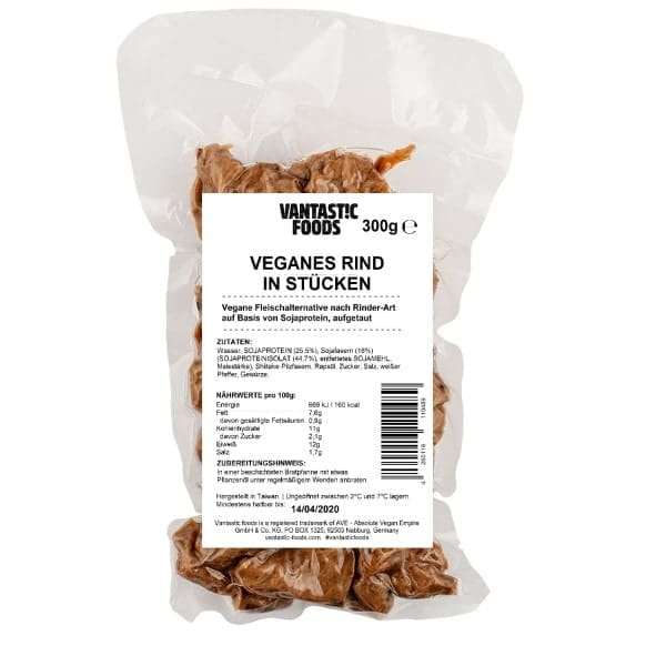 Vantastic foods VEGANES RIND in Stücken, 300g