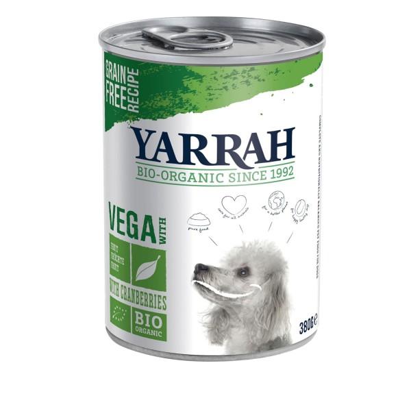 Yarrah VEGA BIO HUNDEFUTTER DOSE (vegan) Getreidefrei mit Cranberries, 380g