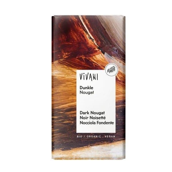 Vivani DUNKLE NOUGAT Schokolade, BIO, 100g