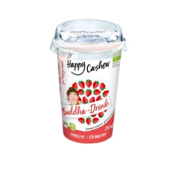 Happy Cashew BUDDHA-DRINK Erdbeere, BIO, 230ml