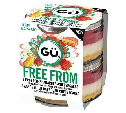 Gü FREE FROM Erdbeer & Rhabarber Cheesecake, 2x95g
