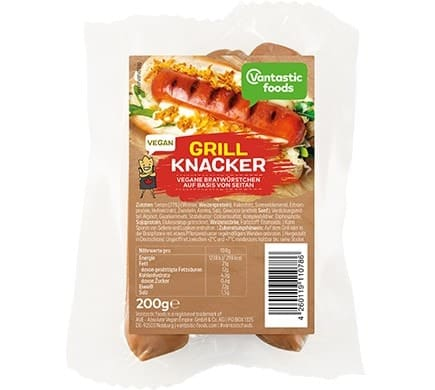 Vantastic foods VEGANER GRILLKNACKER, 200g