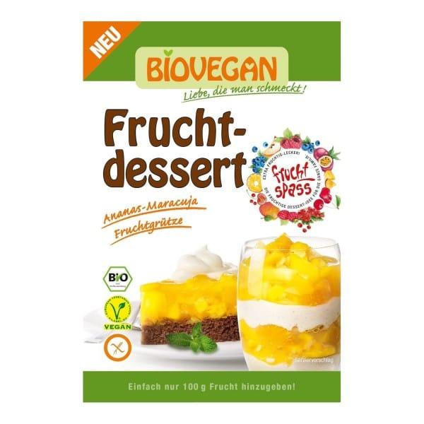 Biovegan Bio FRUCHTDESSERT Ananas-Maracuja, 32g