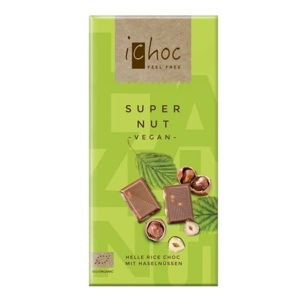 iChoc SUPER NUT mit Haselnüssen, BIO, 80g