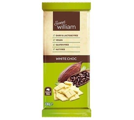 Sweet William WHITE CHOC, 100g