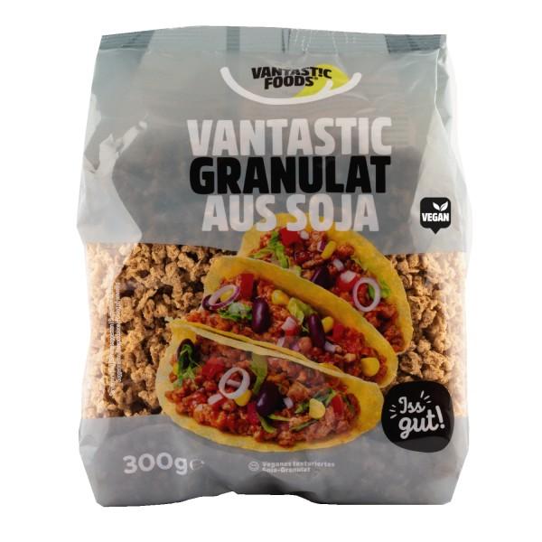 Vantastic foods SOJA GRANULAT Fleischersatz Sojafleisch, 300g