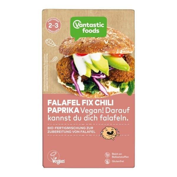 Vantastic foods FALAFEL FIX Falafel Pulver Paprika Chili, BIO, 160g