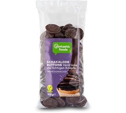 Vantastic foods SCHAKALODE Buttons Original, 500g - Neue Rezeptur