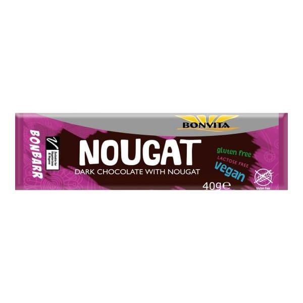 Bonvita BONBARR Nougat Riegel mit Zartbitterschokolade, BIO, 40g