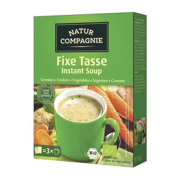 Natur Compagnie FIXE TASSE Suppe Gemüse, BIO, 3x18g