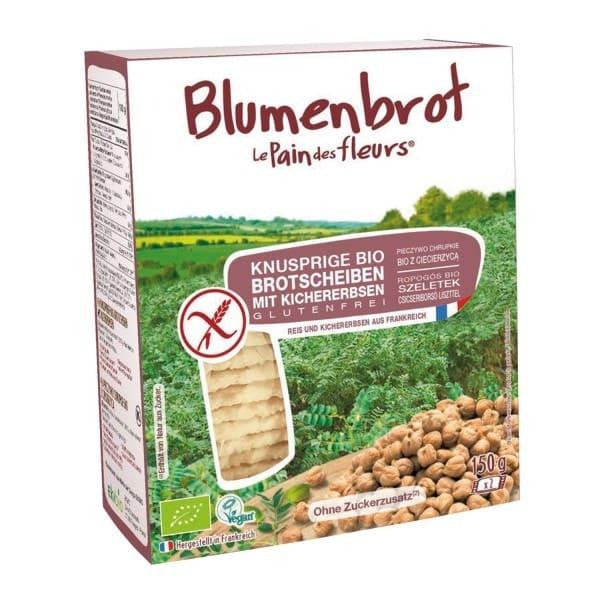 Le Pain des fleurs BLUMENBROT Knusprige Brotscheiben mit Kichererbsen, BIO, 150g