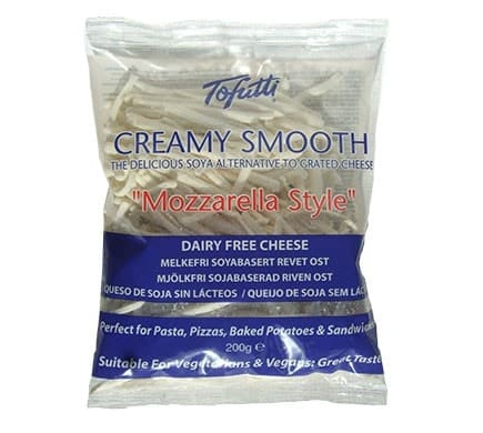 Tofutti CREAMY SMOOTH GRATED Mozzarella-Style, 200g