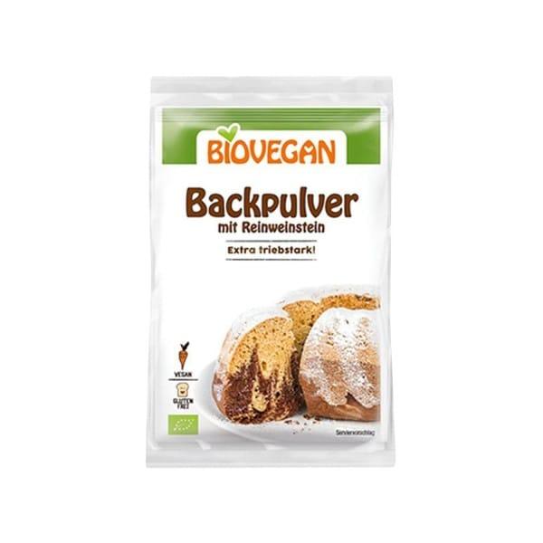 Biovegan BACKPULVER mit Reinweinstein, BIO, 4x17g