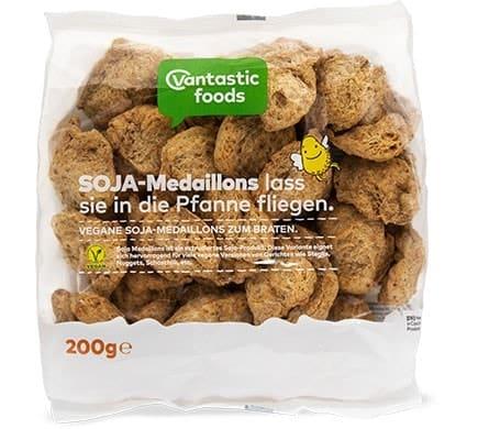 Vantastic foods SOJA MEDAILLONS Fleischersatz Sojafleisch, 200g