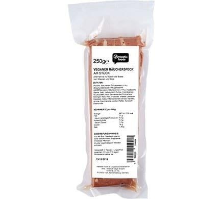 Vantastic foods VEGANER RÄUCHERSPECK am Stück, 250g