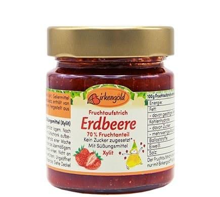 Birkengold FRUCHTAUFSTRICH Erdbeere, 200g