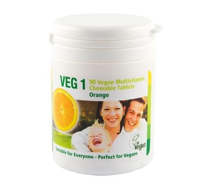 VEG 1 Vitaminsupplement, Orange 90 Kautabletten