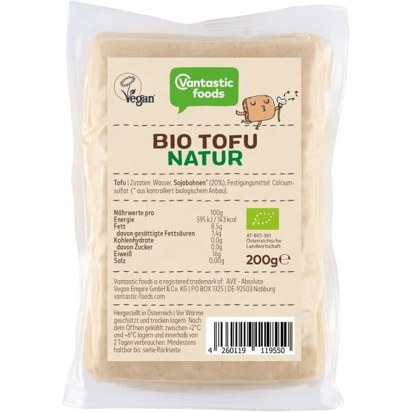 Vantastic foods BIO TOFU Natur, 200g