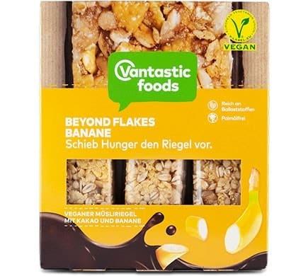 Vantastic foods BEYOND FLAKES Müsliriegel Banane, 90g