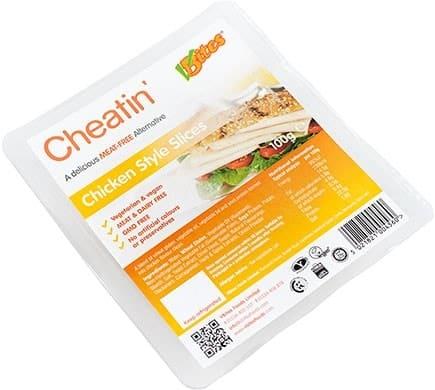 VBites CHEATIN CHICKEN STYLE Slices, 100g