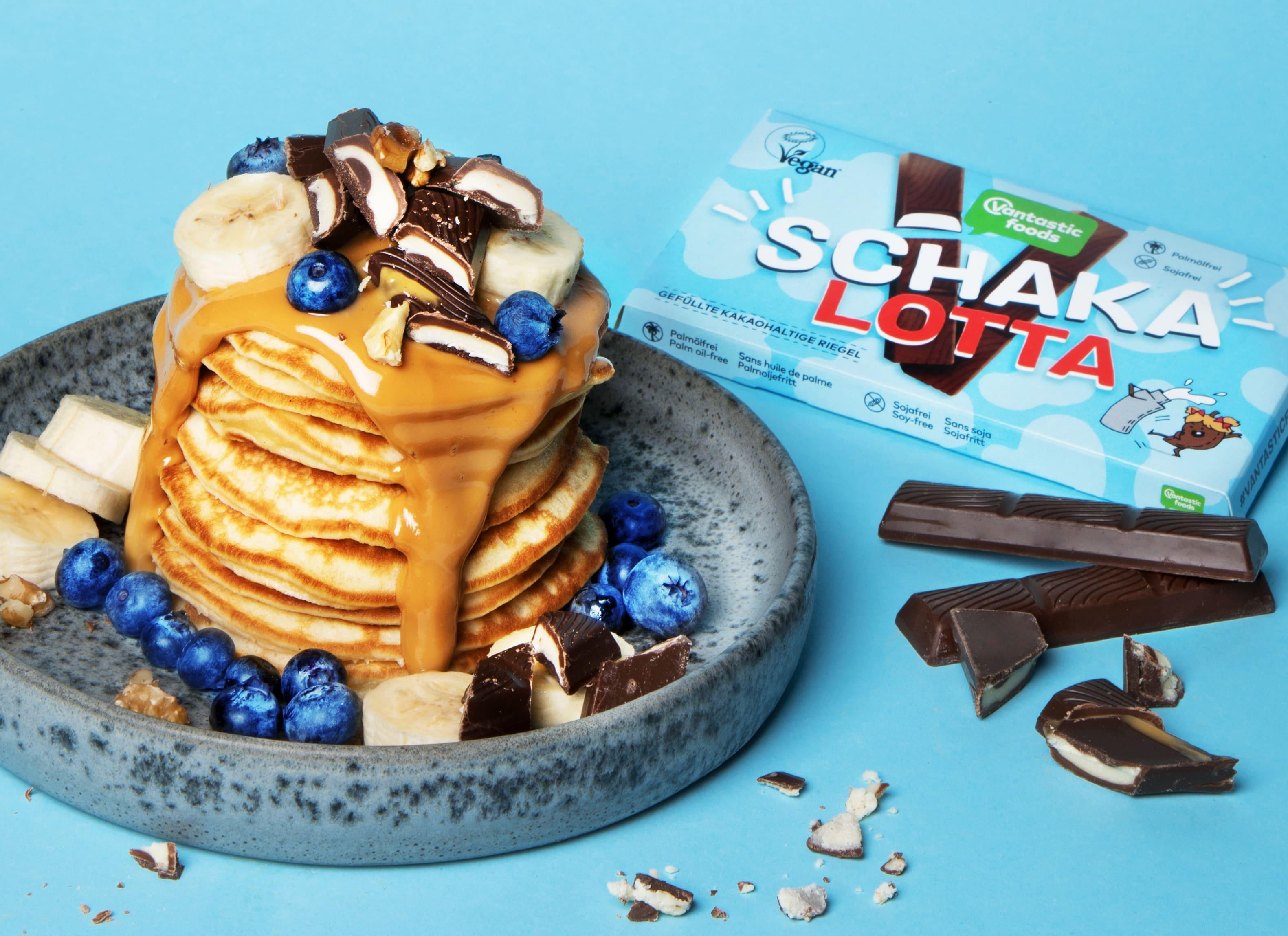 Erdnussbutter-Bananen-Pancake
