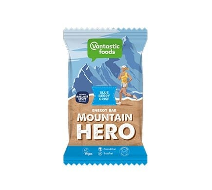 Vantastic foods MOUNTAIN HERO Blueberry-Crisp Energieriegel, 62g