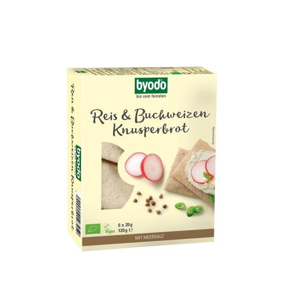 Byodo REIS & BUCHWEIZEN KNUSPERBROT, BIO, 120g