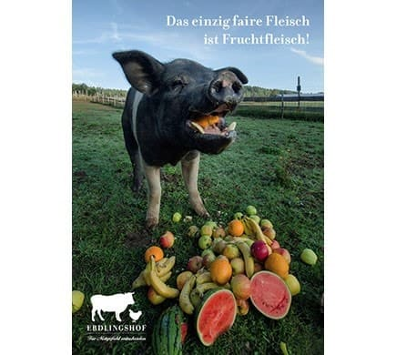 Erdlingshof FRUCHTFLEISCH, Postkarte