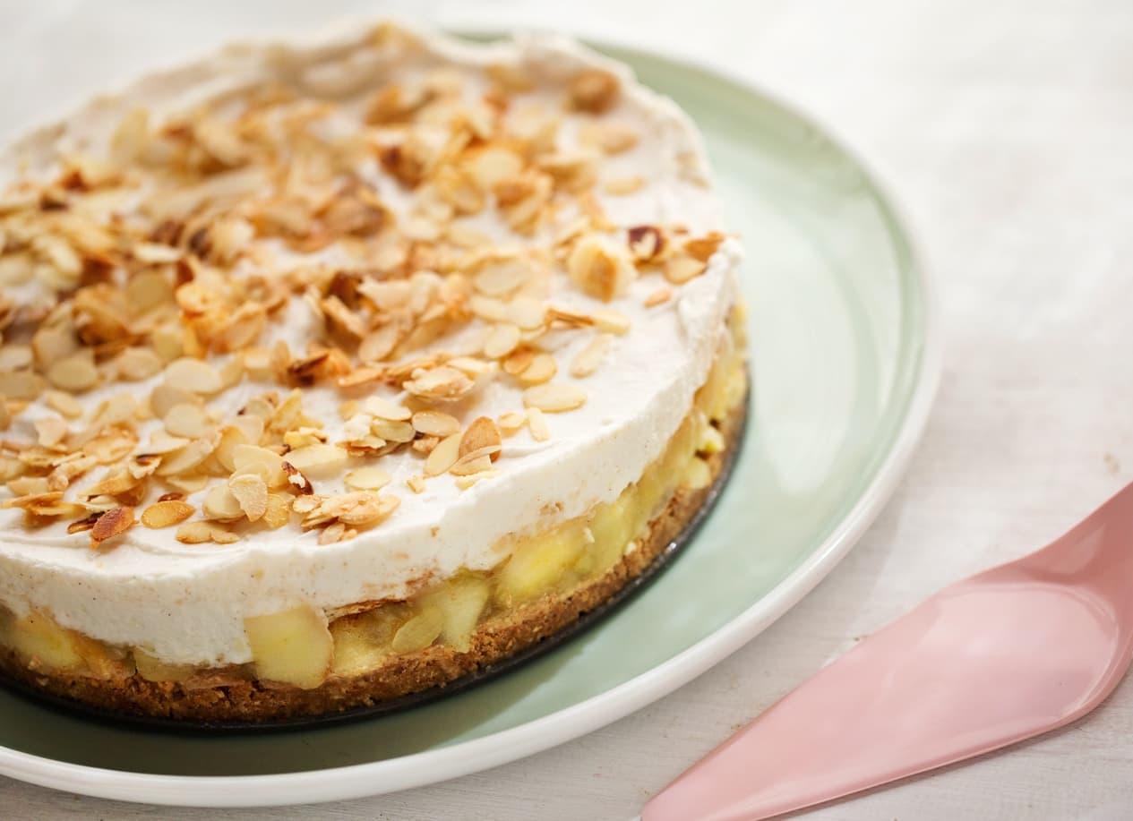Rezept Fur Vegane Apfel Sahnecreme Torte Ohne Milch Und Eier